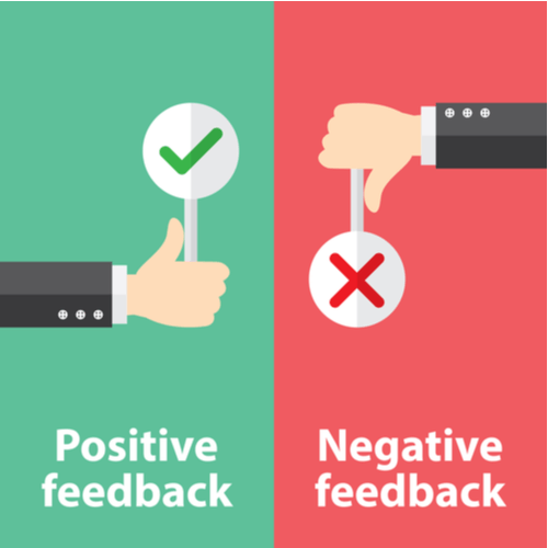 how to control negative/positive feedback