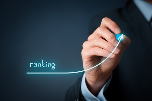 ranking trend with increasing glowing line