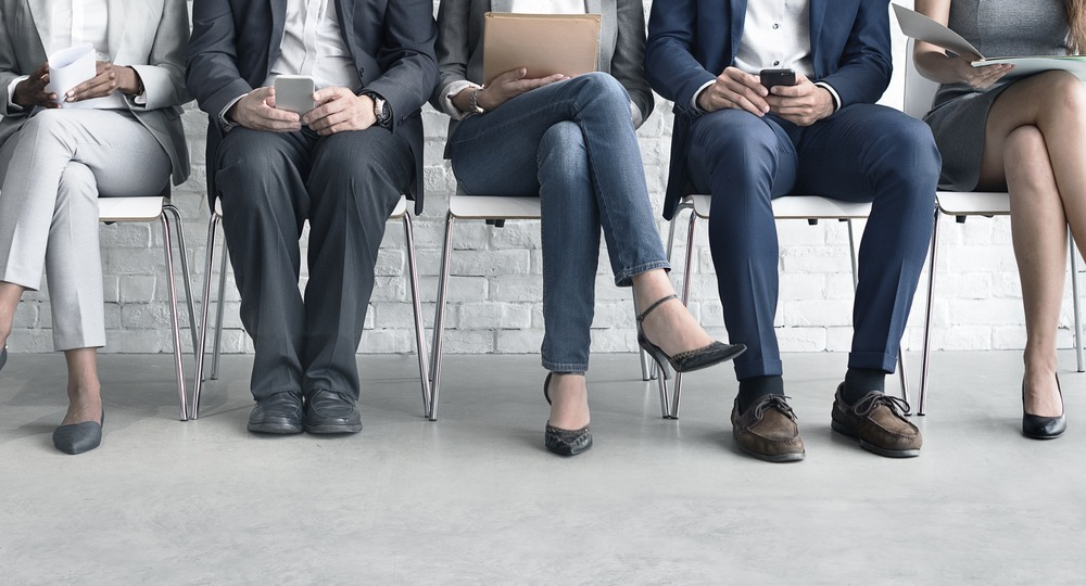 job search applicants in chairs