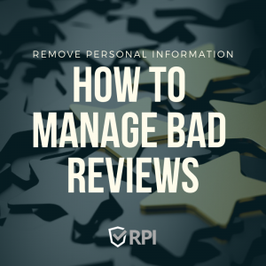 How to Manage Bad Reviews