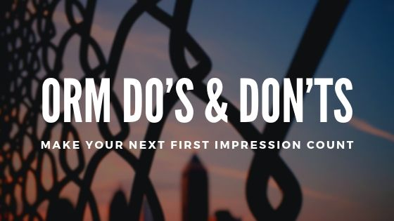 ORM Do's & Don'ts